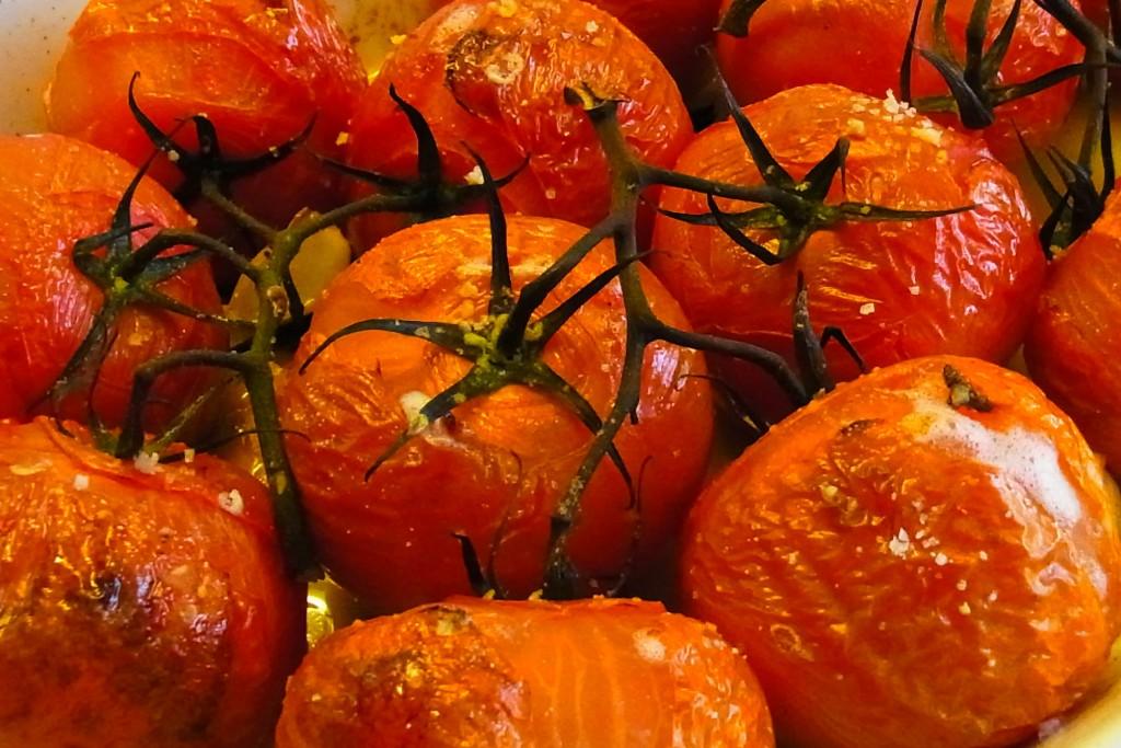 Geroosterde tomaten met ricotta